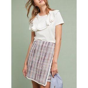 "Anthropologie ""Hutch"" Metallic Wrap Skirt"